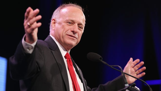 U.S. Rep. Steve King (R-IA) speaks to guests  at the Iowa Freedom Summit on January 24, 2015 in Des Moines, Iowa.
