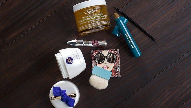 1. Kiehl's Calendula & Aloe Soothing Hydration Masque, $45, Neiman Marcus. 2. Rita Hazan New York Root Concealer Touch-Up Stick, $25, Sephora. 3. Benefit Cosmetics Galifornia Blush, $29, www.benefitcosmetics.com (available in April). 4. Tatcha Supple Moisture Rich Silk Cream, $150, Sephora. 5. Benefit Cosmetics Gimme Brow Volumizing Fiber Gel, $24, Ulta