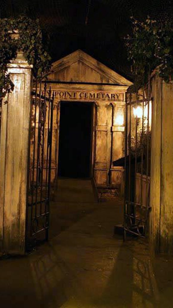 The cemetery inside Rocky Point Haunted House was one of the first rooms patrons encountered.