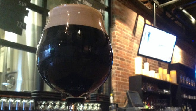 Sir Moch-A-Lot, a seasonal beer made my Exile, was created using cocao from Chocolaterie Stam.