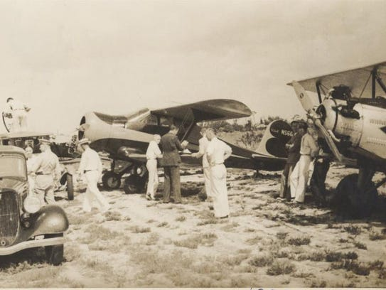 The official opening of Fort Pierce Airways was May
