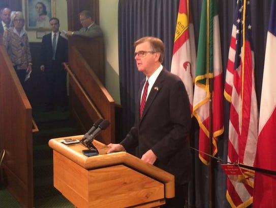 Lt. Gov. Dan Patrick warns that if his priority legislation
