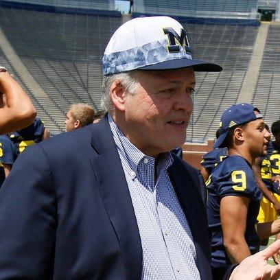 Michigan interim athletic director Jim Hackett, on