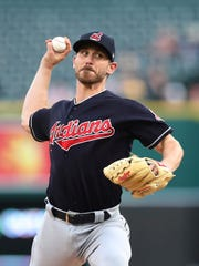 Josh Tomlin struggled last season with Cleveland, finishing with a 6.14 ERA.