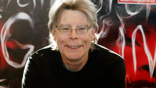 In this Nov. 13, 2013 file photo, author Stephen King poses for the cameras, during a promotional tour in Paris.