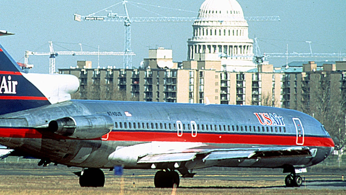 A look at some of US Airways' airplane liveries from the