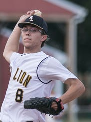 Red Lion's Kent Walker throws a pitch during the fourth