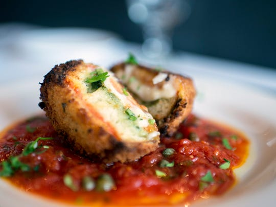 Mozzarella en corozza is a deconstructed experience worth having at Allora in Marlton.