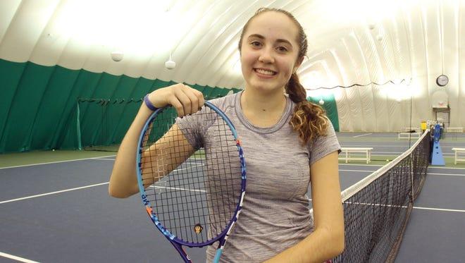 Yorktown sophomore Caitlyn Ferrante is the Journal News/Lohud tennis player of the year. Dec. 6, 2016.
