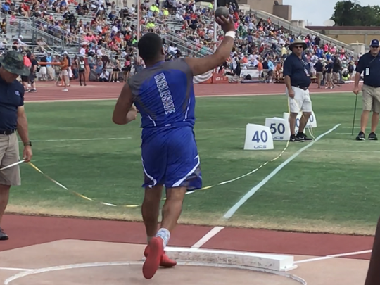Ingleside's Stephen Cardenas finished second in the 4A boys shot put on Saturday at the UIL State Track & Field Championships in Austin.