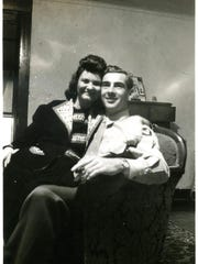 Pfc. Bruce H. Mahnken, right, with his wife, Vera. Mahnken died in a plane crash in January 1945 while serving in the U.S. Army Air Force.