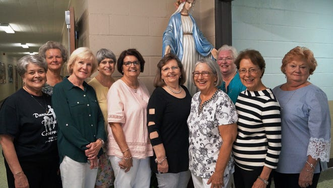 Pictured are members of the AIC Girls Class of 1966 who attended a reunion on May 1, 2018.  From left are Marguerite Wyble, Barbara Britt, Clelie Dubuisson, Dianne D'Avy, Myra Stelly, Lana Ledoux, Alice Dupre, Cindy Going, Debbie Dossman, and Ann Willis. Not pictured but also attending was Gail Broussard.