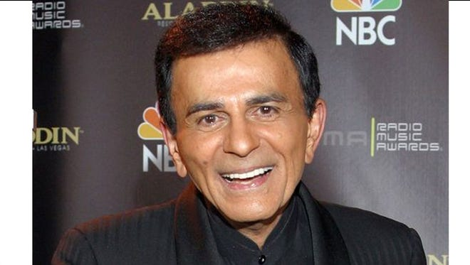 """Casey Kasem gained fame with his radio music countdown shows, including """"American Top 40"""" and """"Casey's Top 40."""""""