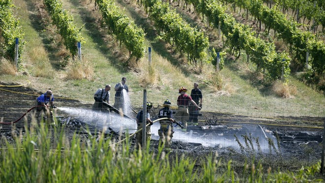 A close call, but the fire was contained by members of the Egypt Fire Department before touching the vines of Casa Larga Vineyards. The cause has not been determined.