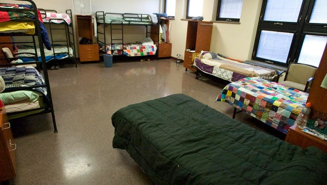 The interior of the Salvation Army's homeless shelter as seen March 28, 2013 in Sheboygan. The facility has limited temporary housing for homeless individuals.