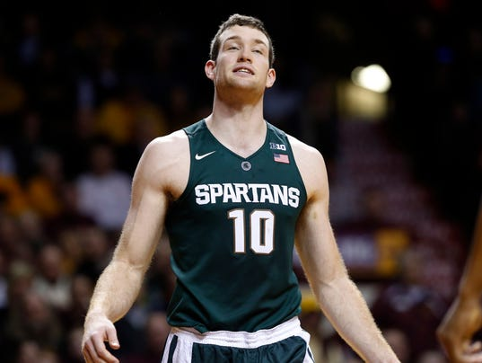 MSU's Matt Costello expected to play, be 'very limited'