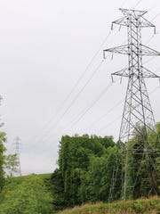 Transource Energy plans to build an electric transmission line that would run through southern York County. This photo depicts a typical 230 kV double circuit lattice structure that is being proposed for this project. However, structure type and height may vary along the route. The typical right-of-way is 130 feet wide.