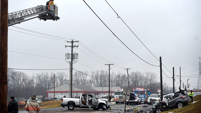 A Jackson Township couple died in a Friday afternoon two-vehicle accident on East Cumberland Street in North Lebanon Township, police said Monday. Killed were Leanna Gerhard and Paul Gerhard, both 78 and both of 1300 E. Kercher Ave., police said. The driver of the other vehicle was identified as Joseph Fisher, 22, of 405 S. Cherry St., Myerstown.