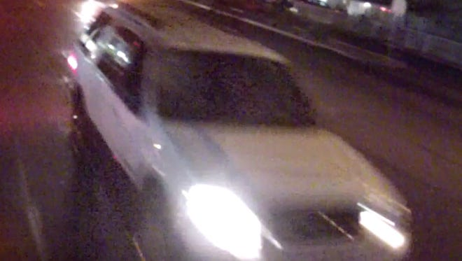 Phoenix police are looking for a 2007-2010 White Ford Expedition with damage to the passenger side of the windshield and a missing passenger side mirror.