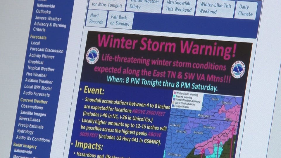 Meterologists with the National Weather Service in