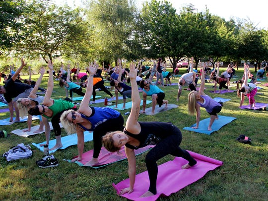 Yoga classes will be held outside this summer.