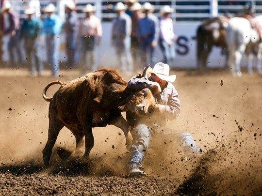 The St. Paul rodeo takes place around the Fourth of July.