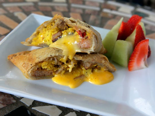 A pork roll, egg and cheese empanada at Sunburst Pie Co. in Manasquan.