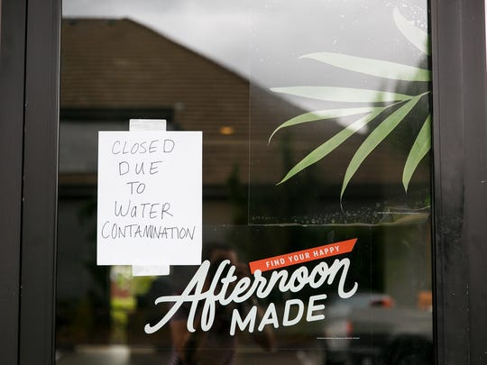 The Starbucks on Commercial Street NE is one of the Salem businesses closed due to water contamination on Wednesday, May 30, 2018. Low levels of toxins caused by algae blooms in Detroit Lake have prompted officials to warn children under 6 years old and those with compromised immune systems to not drink tap water.