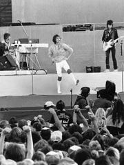 Mick Jagger and the Rolling Stones perform in 1981.