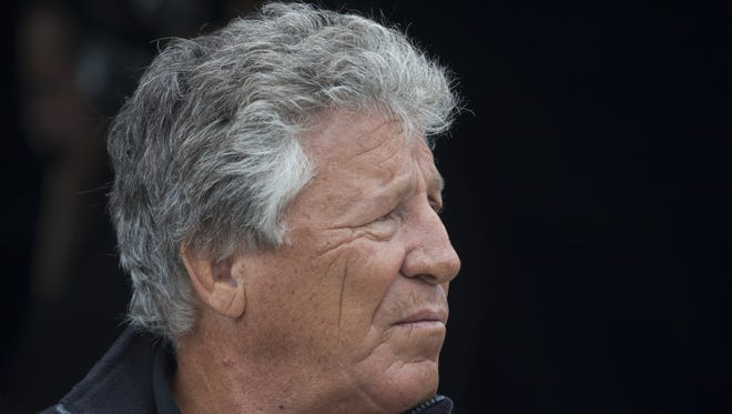 The astounding Mario Andretti, shown here at age 70, probably has the top head of hair in the history of racing, and possibly in the history of sport.