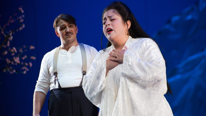 """Puccini's classic """"Madama Butterfly"""" is brought to life by the Indiana University Opera Theater, with Justin Stolz singing the role of B.F. Pinkerton and Marlen Hahhas as Cio-Cio San."""