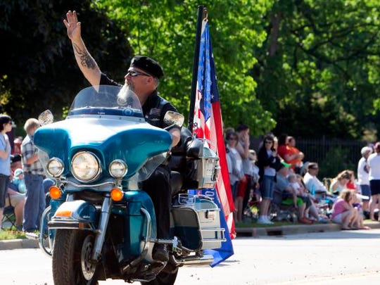 Rumbles from the motorcycle club were a part of the Memorial Day parade on May 30, 2016.