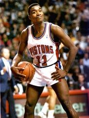 Pistons guard Isiah Thomas.