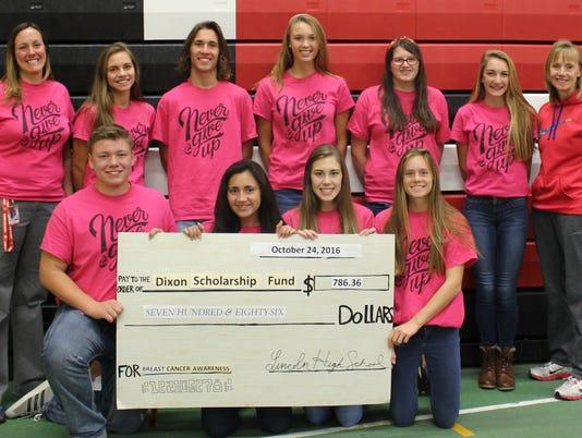 Dixon Scholarship Fund check