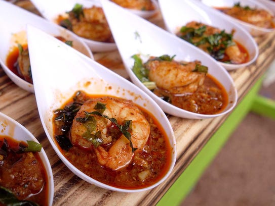 GOLD MEDAL: Pepper shrimp from The Breadfruit at the
