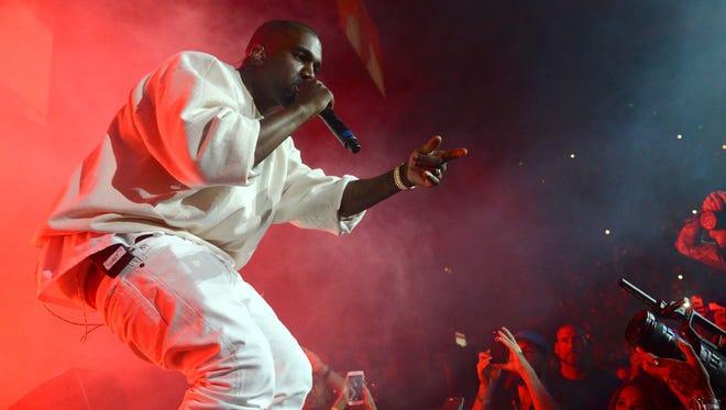 Kanye West in Anaheim, Calif.