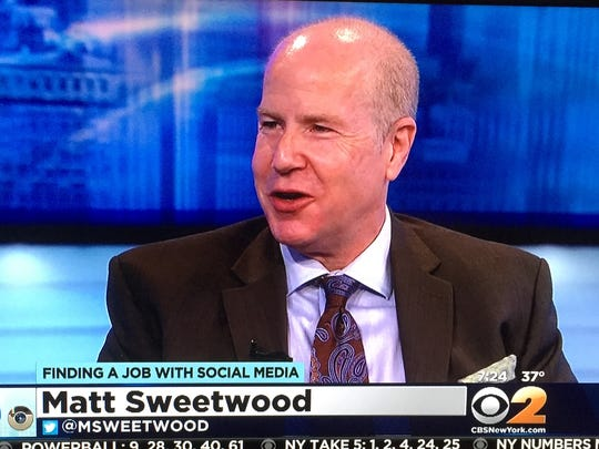 Author and businessman Matt Sweetwood talks about social media on a CBS2 show.