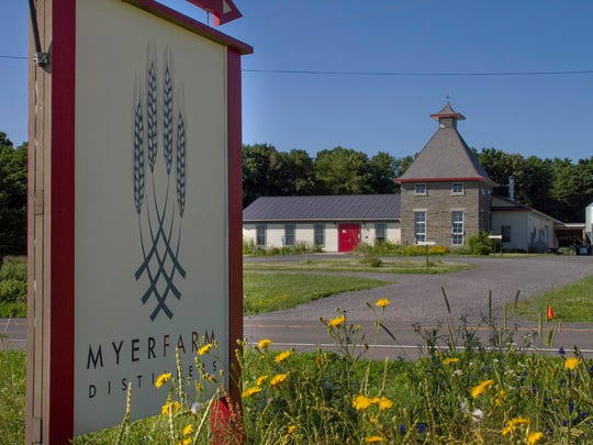 Myer Farm Distillers is located at 7350 New York Route 89, Ovid, about 21 miles north of Ithaca.
