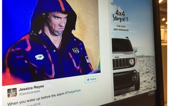 One of the many tweets generated from Michael Phelp's face is featured on USA TODAY's For the Win Tuesday.