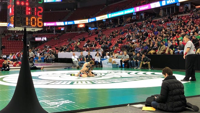 WIAA state wrestling kicked off Thursday at the Kohl Center.