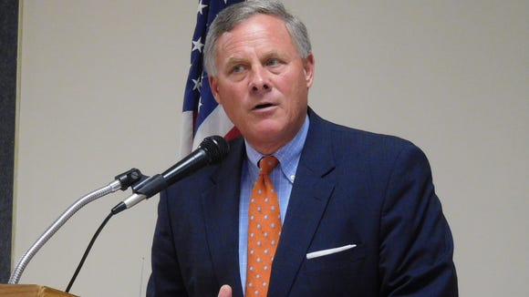 Sen. Richard Burr, R-North Carolina, speaks to the Council of Independent Business Owners last year in this file photo.