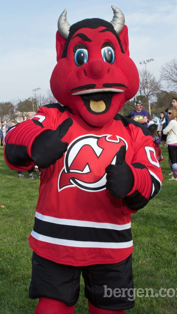The New Jersey Devils Mascot.