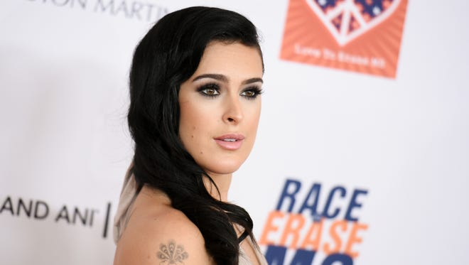 Rumer Willis arrives at the 22nd Annual Race To Erase MS Event on Friday, April 24, 2015, in Los Angeles