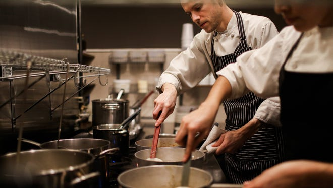 Nate Rafn is chef and co-owner of Rafns' Restaurant in downtown Salem.