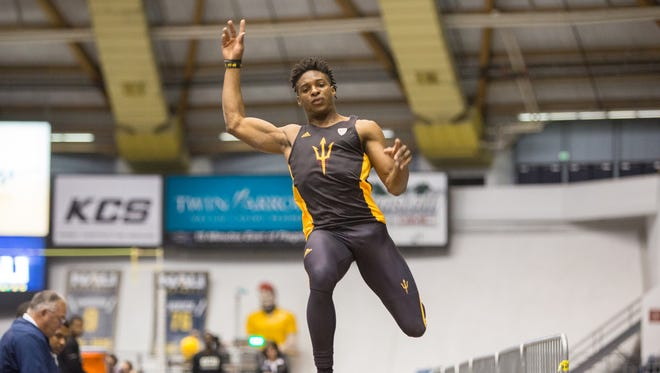 ASU junior Tim White will compete in triple jump at the NCAA Outdoor Championships on Friday. He is a two-sport athlete, competing in outdoor track after finishing spring football practice.