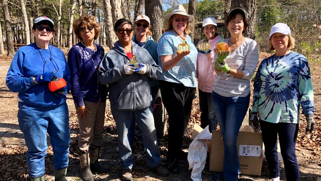 A crew of Rutgers Master Gardeners of Cumberland County volunteers recently tackled the task of clearing leaves from the Discovery Garden at Wheaton Arts and Cultural Center in Millville.