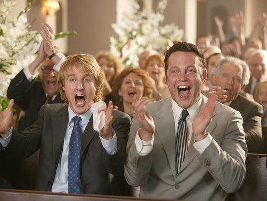 Owen Wilson, left, and Vince Vaughn in 2005's 'Wedding