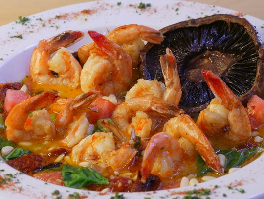 Drago's herradura shrimp are sautéed with sun-dried