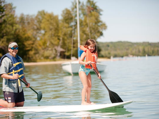One of the perks of being an AAUM member is access to Camp Michigania, the exclusive site on Walloon Lake open only to members.