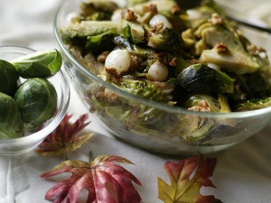Food shots111403Brussel sprouts with caramelized pearl onions.MANDI WRIGHT/Detroit Free Press